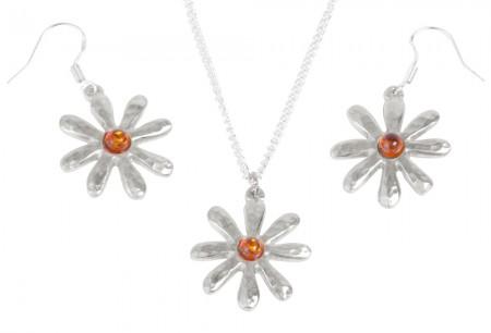 Amber Tin Jewellery Set