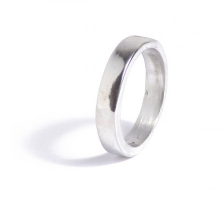 Polished Unisex 10th anniversary tin ring