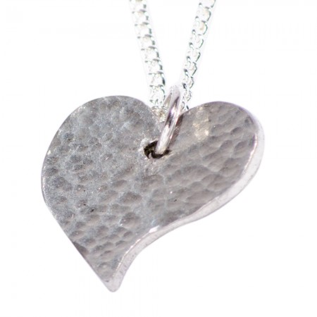 Offshaped Tin Heart Necklace