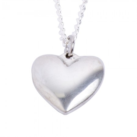 Polished 10 Year Anniversary Heart Necklace