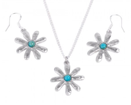 Turquoise Tin Anniversary Jewellery Set