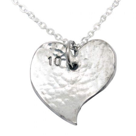 Offshaped tin 10 wedding necklace