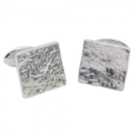 10th anniversary stamped cufflinks