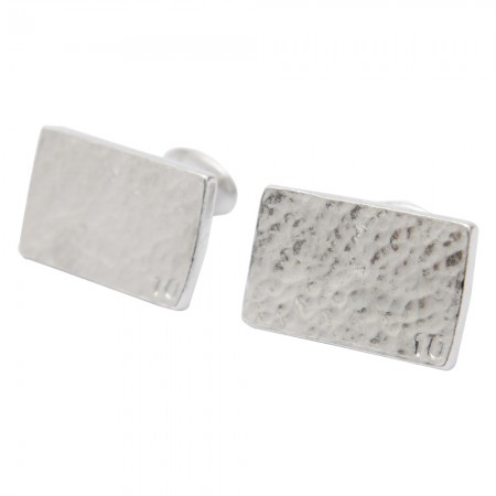ten anniversary rectangle tin cufflinks